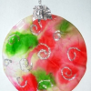 Easy Craft for Kids: Tie Dye Christmas Ornament