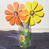 Easy Kids Craft: Finger Print Vase and Photo Paper Flower