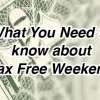 Texas Tax Free Weekend is August 17 - 19
