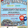Special Needs Fall Carnival Saturday, Oct 27th