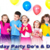 Kids Birthday Party : Birthday Party Etiquette
