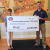 Wipe out Kids Cancer presented with a $100,000 donation!