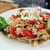 Sun Dried Tomato & Pesto Fettucini Made with Tofu