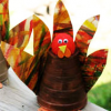 Easy Thanksgiving Craft for Kids - Paper Cup Turkey
