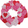 Easy Kids Craft: Paper Heart Wreath