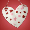 Fun Valentine for Kids: Heart Shaped Hanging Art