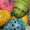 Easter Egg Decorating Idea # 2 - Doodled Eggs