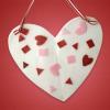 Valentine Crafts for Kids: Heart Shaped Hanging Art