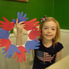 4th of July Craft: Festive Hand Print Wreath