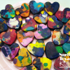 Melted Crayon Hearts Valentine Craft