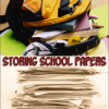 Kid's School Papers Piling Up? Create a Holding Tank