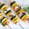 Meyer Lemon Salmon and Zucchini Kebabs