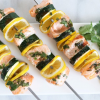 Meyer Lemon Salmon and Zucchini Kebabs