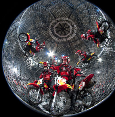 Ringling Bros - Cage of Motorcyles - North Texas Kids Magazine