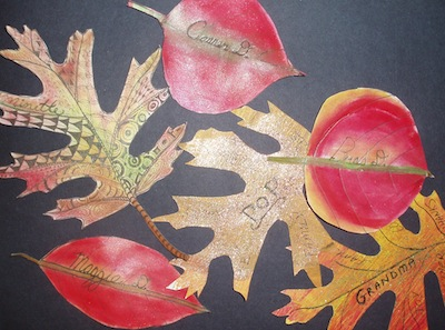 Easy Craft Idea For Thanksgiving Place Cards Fun With Fall Leaves