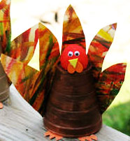 Paper Cup Turkey - Easy Thanksgiving Craft