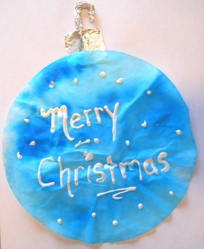 Tie Dye Christmas Ornament Blue