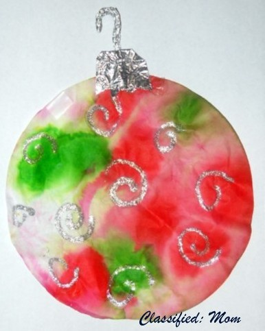 Christmas Ornaments on Easy Craft For Kids  Tie Dye Christmas Ornament   North Texas Kids