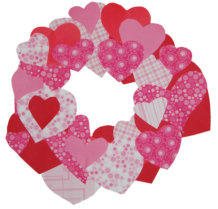 Easy Kids Crafts - Valentine Paper Heart Wreath