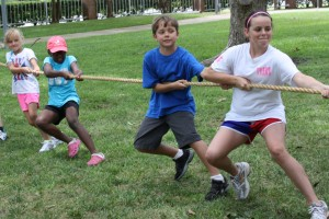summer camp tug of war