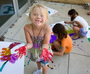 Girl painting summer camp