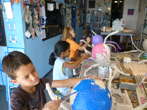 Kids painting summer camp