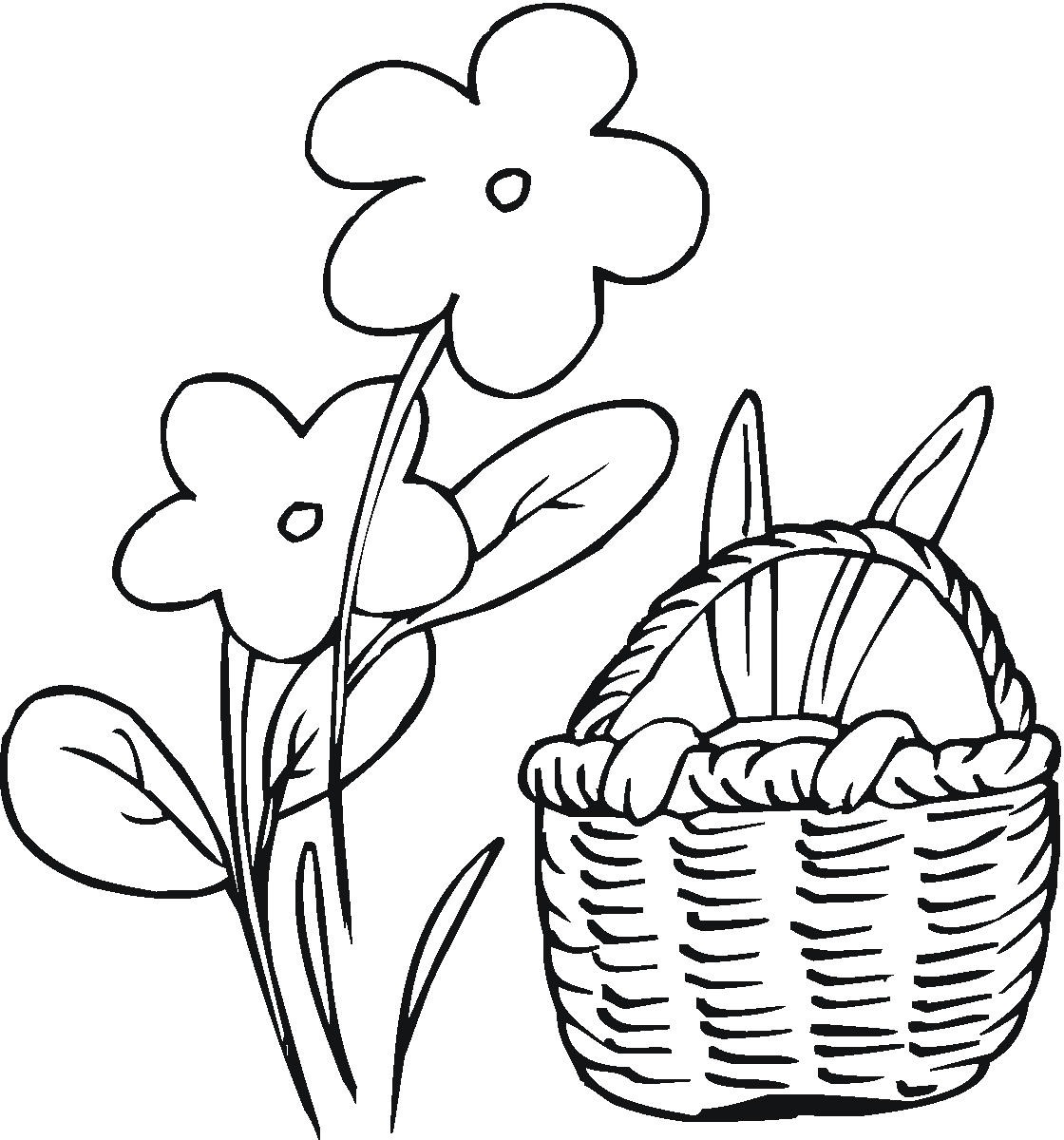 easter bunny coloring page. Easter bunny printable