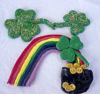 Salt Dough Shamrock magnet