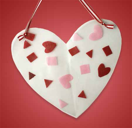 Valentine for Kids - Heart Shaped Hanging Art