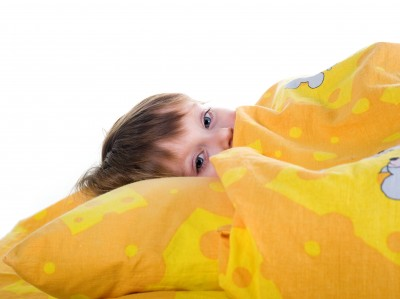 Bedwetting - Boy under Covers