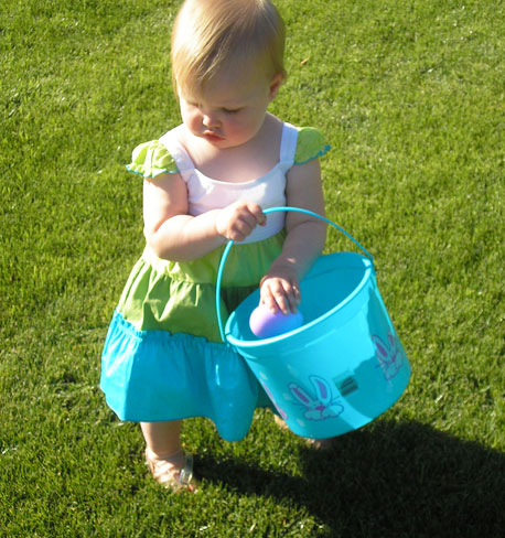 Easter Traditions - Egg Hunt with Little Girl