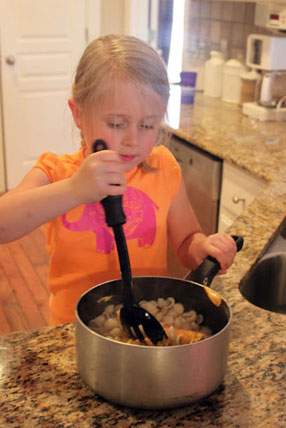 Samantha Conner - Girl Cooking Pasta