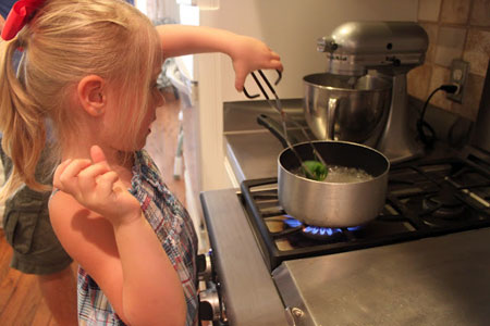 Samantha Conner - Daughter Putting Jalapeno in Boiling Water