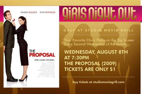Girls Night Out at Studio Movie Grill - The Proposal - August 2012