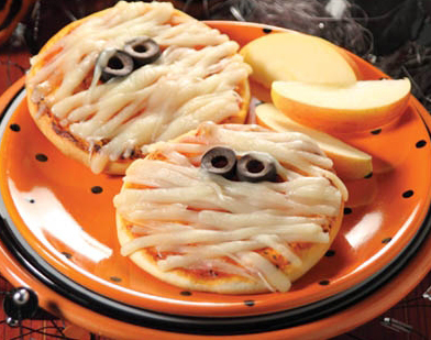 Halloween Pizza Mummies