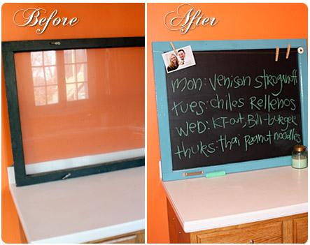 homemade chalkboard craft