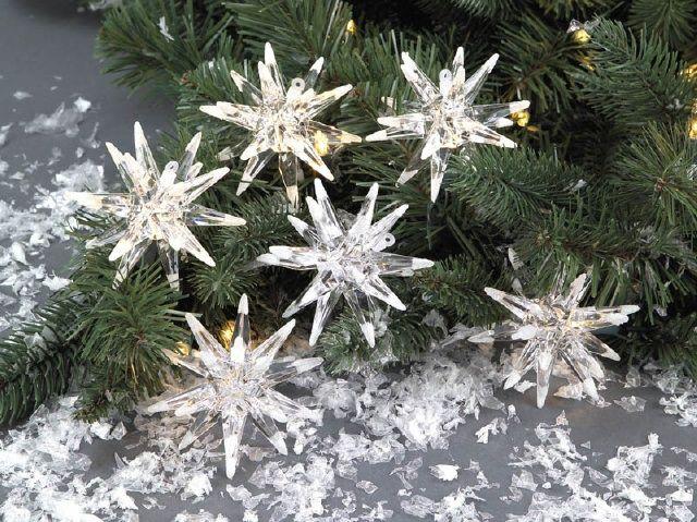 Snowflake Lights on Tree