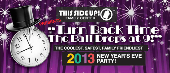 ThisSideUp Family Friendly New Year's Eve Celebration