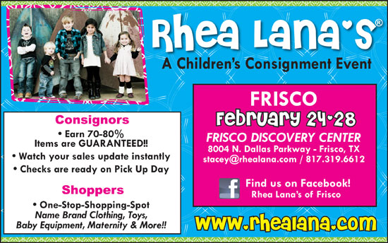 Rhea Lana's Children's Consignment Sale Feb 2013