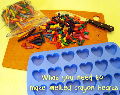 Melted Crayon Hearts - Supplies