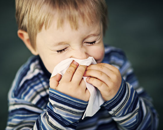 Allergens - Boy Sneezing