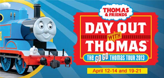 Day Out with Thomas April 12-14 and 19-21