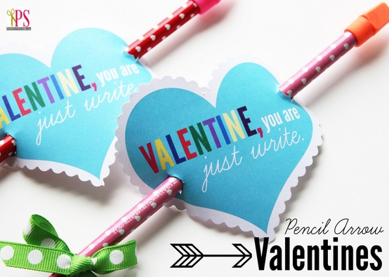 free valentine printables - valentine pencil holders