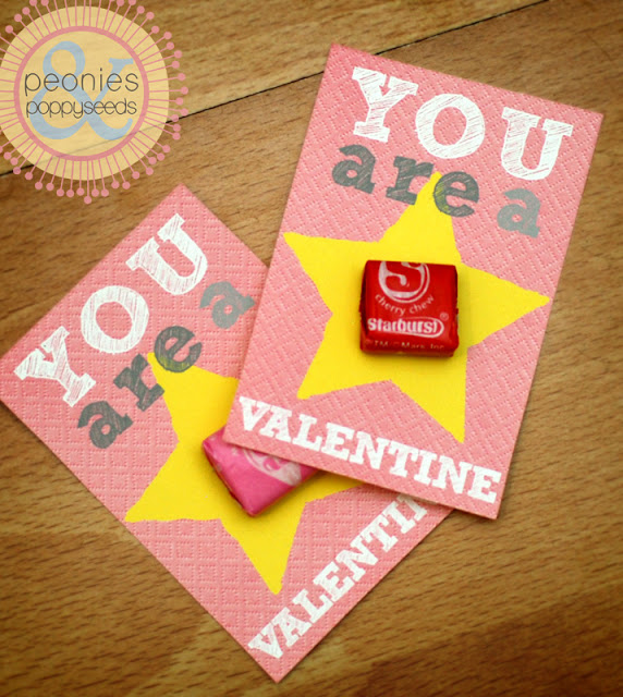 image regarding Starburst Valentine Printable identified as North Texas Kidsvalentineprintable-starburst playing cards North