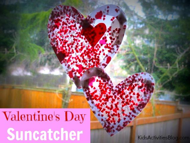 Valentine Crafts - Valentine Sun Catcher
