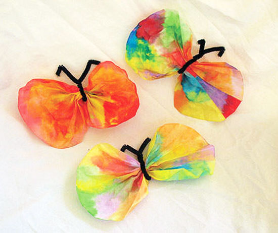 Easy Kids Crafts - Spring Crafts - Coffee Filter Butterfly