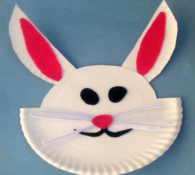 Easter Bunny Paper Craft & Easy Kids Crafts : Paper Plate Easter Bunny Craft | North Texas Kids