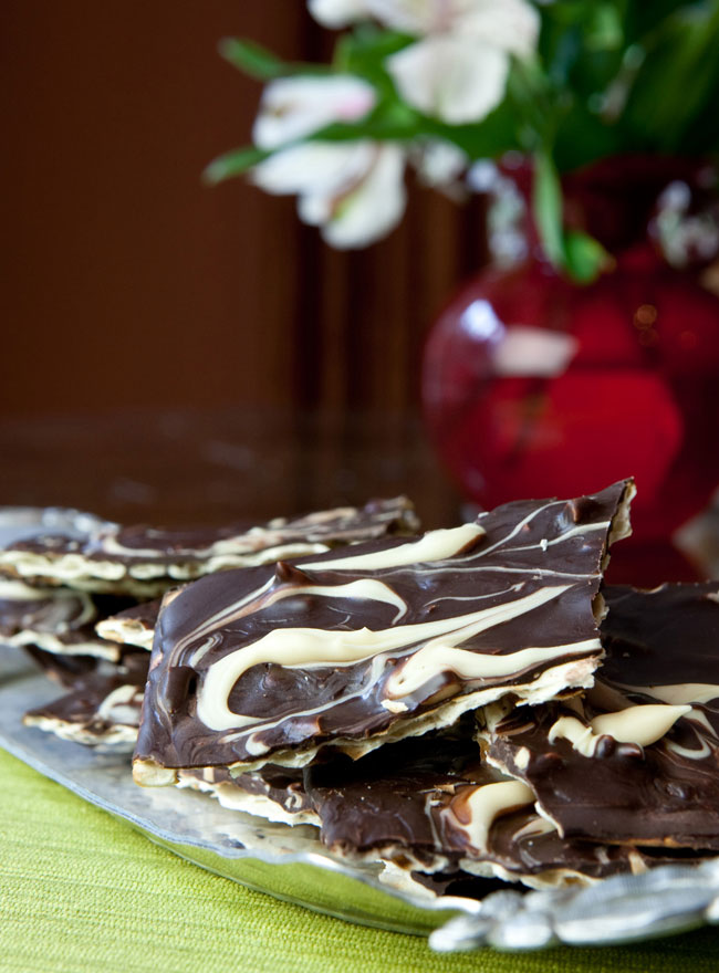 Passover Desserts - Marble Chocolate Matzoh