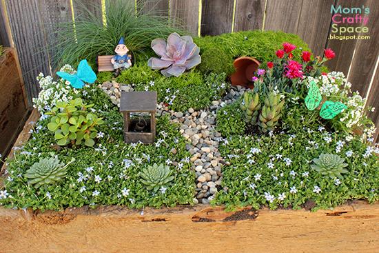 Outdoor fun with kids - fairy garden