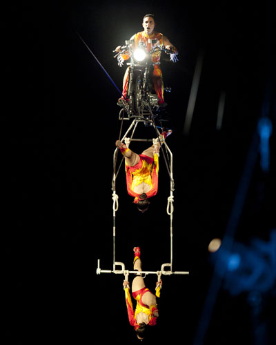 Ringling Bros - DRAGONS - Block Party - High Wire Motorcycle